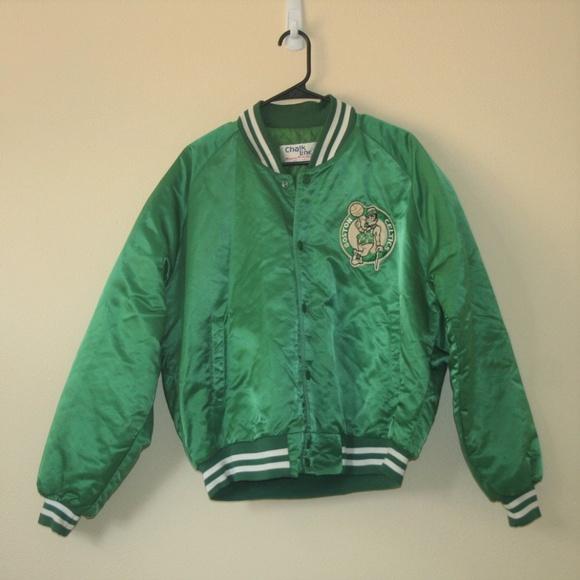 c798fe271 SALE Vintage Boston Celtics Jacket Chalkline XL
